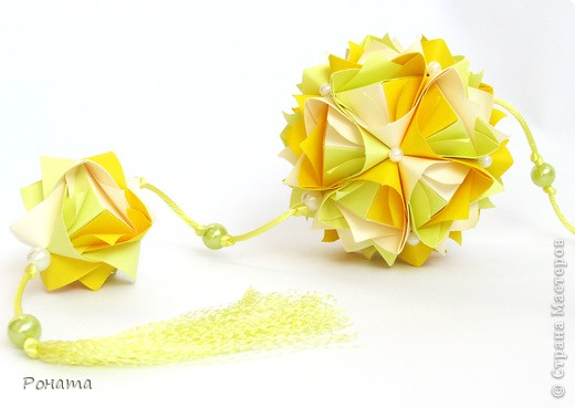 Всем привет! Продолжаю показ кусудам Марии Синайской :)  Модель: Lotus crown Автор: Maria Sinayskaya 30 модулей. Бумага офисная 7*7 см. Итог 8,5 см.  Без клея. Диаграмма здесь - http://www.flickr.com/photos/51642560@N02/5293158076/in/photostream/  фото 2