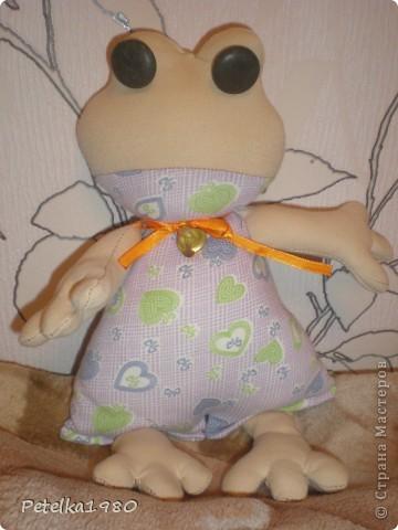 Эта лягушка - первая проба шитья на машинке, которую мне сегодня муж подарил на день рождения!!!!! фото 1