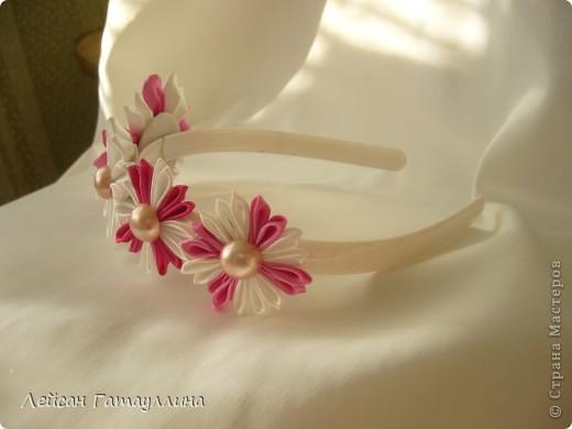 """Заколка-краб  """"Роза-пион"""". Шелк, тафта, атласные ленточки, бусины. фото 12"""