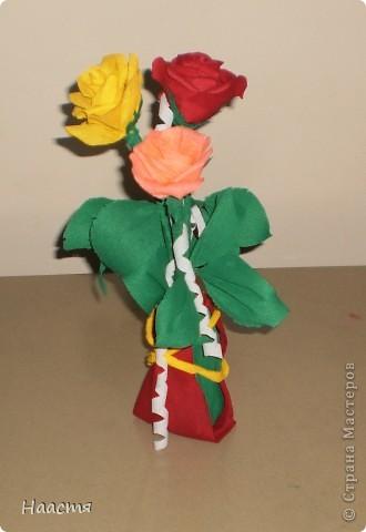 Розы-гофрированная бумага. фото 3
