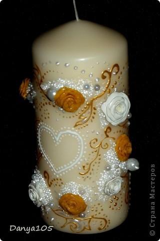 В набор ещё входила, пара бокалов для битья, подушечка для колец и тонкие свечи. Но не было возможности сфотографировать фото 12
