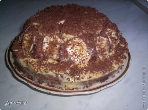 """Банановый рай""                                                              Бисквит-шоколад на кипятке.Крем-сметана с сахаром. фото 2"