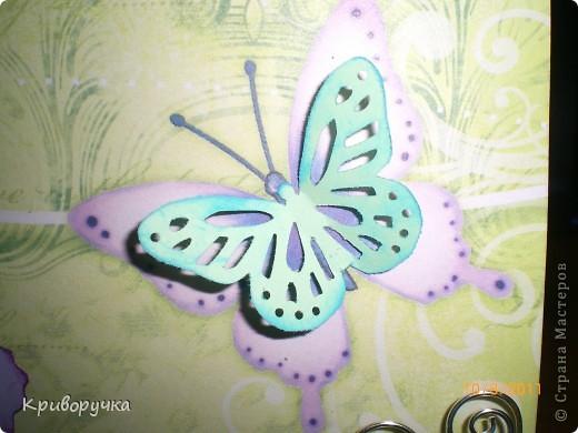 Открытка для молодой девушки, немного искажен цвет бумаги -она нежно салатовая.... фото 3