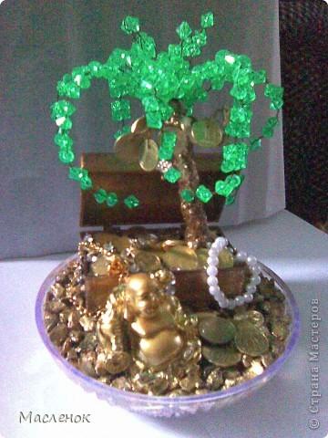 вот такое денежное дерево сделала на 45 - лет женщине.  фото 4