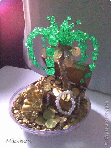 вот такое денежное дерево сделала на 45 - лет женщине.  фото 5