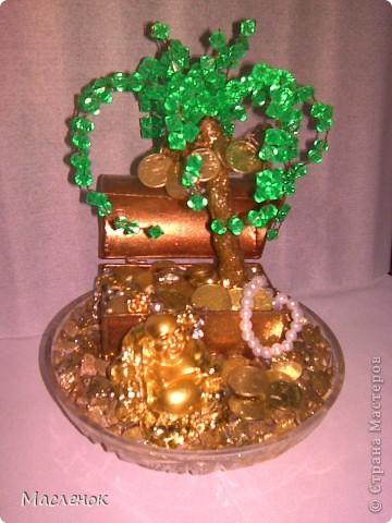 вот такое денежное дерево сделала на 45 - лет женщине.  фото 1