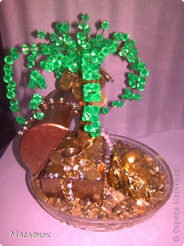 вот такое денежное дерево сделала на 45 - лет женщине.  фото 2