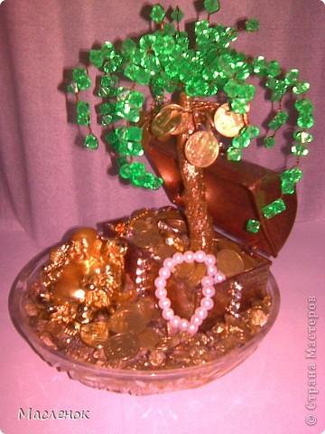 вот такое денежное дерево сделала на 45 - лет женщине.  фото 3
