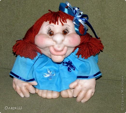 Здравствуйте! Вот сшила новую куколку. Такая Незабудка у меня получилась))) фото 1