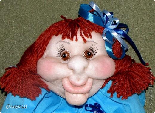Здравствуйте! Вот сшила новую куколку. Такая Незабудка у меня получилась))) фото 3
