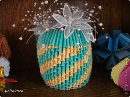 Лебёдушка-невеста. это третья моя поделка из модулей фото 5