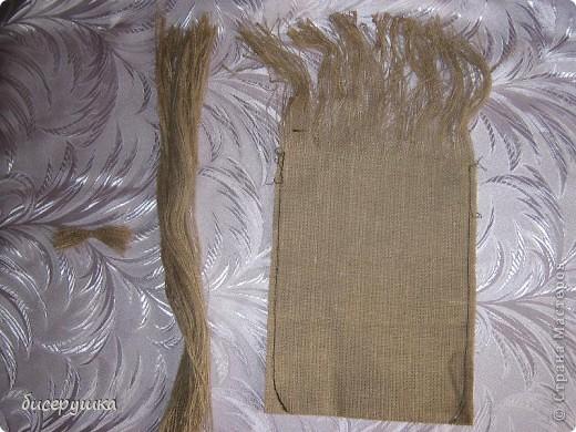 Сегодня я покажу МАСТЕР-КЛАСС по пошиву домовёнка с мешковины... фото 2