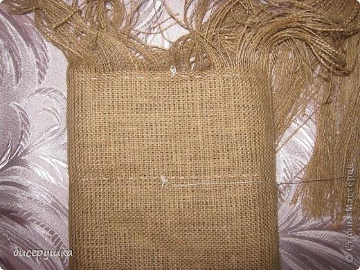 Сегодня я покажу МАСТЕР-КЛАСС по пошиву домовёнка с мешковины... фото 10