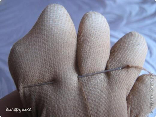 Сегодня я покажу МАСТЕР-КЛАСС по пошиву домовёнка с мешковины... фото 21