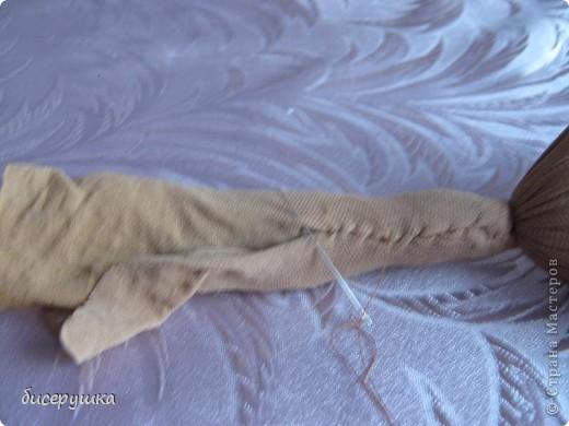 Сегодня я покажу МАСТЕР-КЛАСС по пошиву домовёнка с мешковины... фото 22