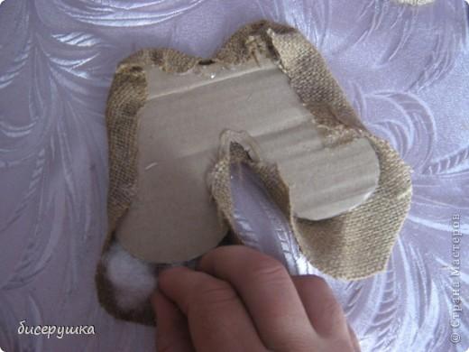 Сегодня я покажу МАСТЕР-КЛАСС по пошиву домовёнка с мешковины... фото 27