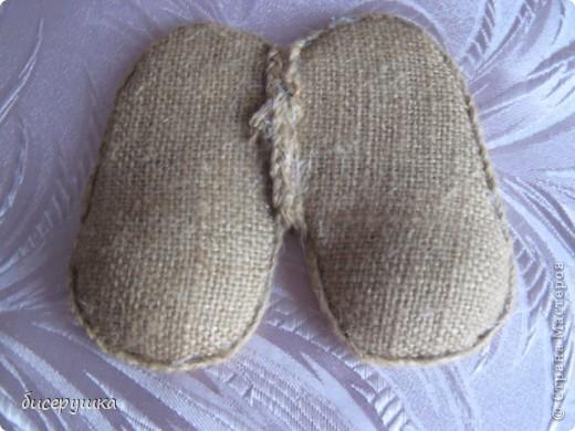 Сегодня я покажу МАСТЕР-КЛАСС по пошиву домовёнка с мешковины... фото 29