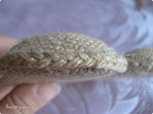 Сегодня я покажу МАСТЕР-КЛАСС по пошиву домовёнка с мешковины... фото 30