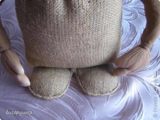 Сегодня я покажу МАСТЕР-КЛАСС по пошиву домовёнка с мешковины... фото 31