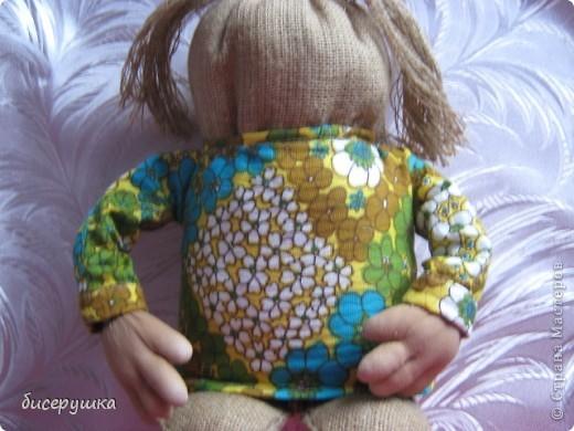 Сегодня я покажу МАСТЕР-КЛАСС по пошиву домовёнка с мешковины... фото 33