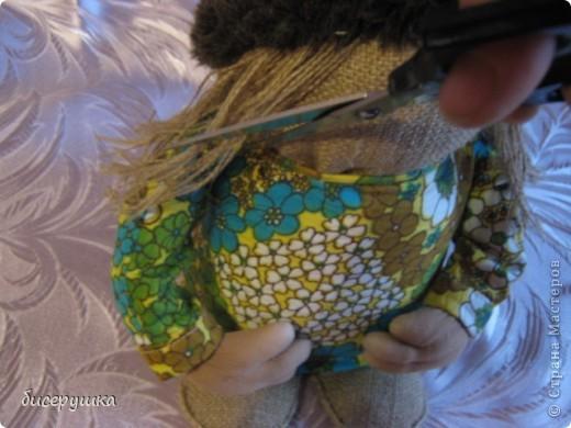 Сегодня я покажу МАСТЕР-КЛАСС по пошиву домовёнка с мешковины... фото 40