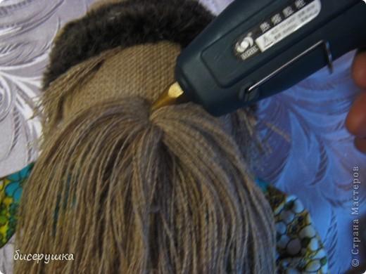 Сегодня я покажу МАСТЕР-КЛАСС по пошиву домовёнка с мешковины... фото 42