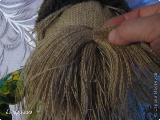 Сегодня я покажу МАСТЕР-КЛАСС по пошиву домовёнка с мешковины... фото 43