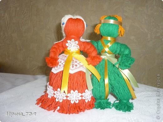 """Куклы из ниток """"Неразлучники"""" фото 1"""