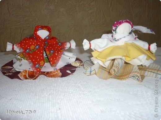 """Куклы из ниток """"Неразлучники"""" фото 4"""