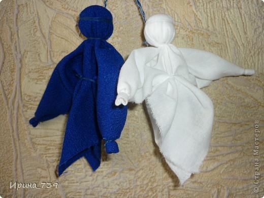 """Куклы из ниток """"Неразлучники"""" фото 6"""