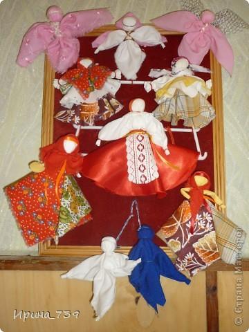 """Куклы из ниток """"Неразлучники"""" фото 7"""