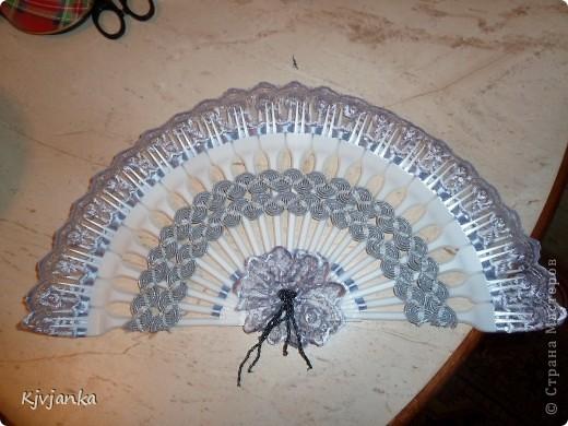 Подружке очень понравились мои веера, что она решила сделать себе что-то подобное. И Вот её дебютный веер... фото 1