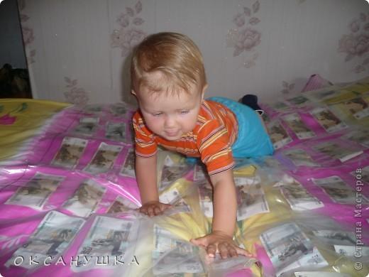 """На днях у мамы был ЮБИЛЕЙ!  Подарки были разные , но один... был очень интересно оформлен.  Это было -  """"ДЕНЕЖНОЕ ОДЕЯЛО"""" , комплект постельного белья (зима-лето). фото 3"""