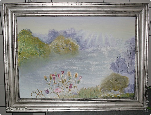 Случайно наткнулась в сети вот на этот сайтик - http://www.mtdesign.ru/archives/2699  И так мне захотелось порисовать=) В итоге, получилась (или не получилась?) эта картина. Ее размер - 43х30 см Результат мне, в общем-то, понравился, если учесть, что никогда подобного рода картины не рисовала. фото 1