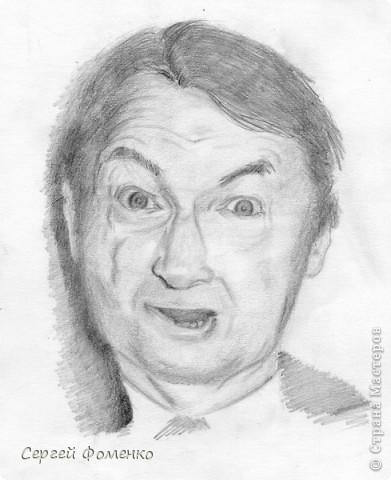 Портрет Георгия Вицина, карандаш. бумага.
