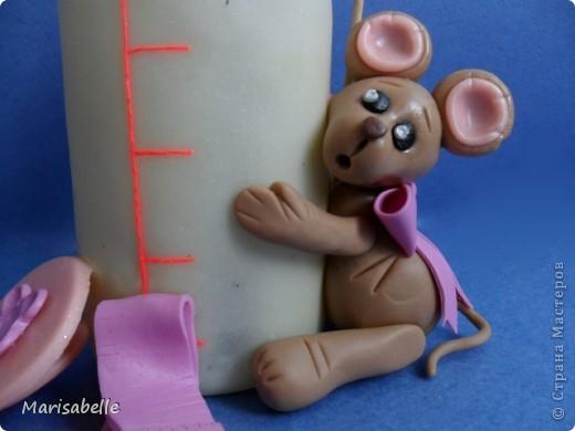 Подарок для новорожденной – торт из подгузников (памперсов) и поделка из холодного фарфора фото 11