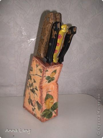 Вот и я решила обновить старую подставку для ножей, которая стояла на кухни моей мамы. фото 4
