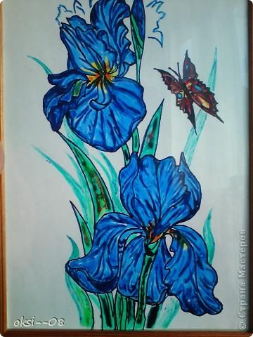 рисунки по стеклу фото 3