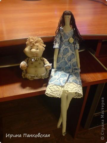 моя первая проба пера Тильд)))))уж очень навятся мне эти куколки)))в дальнейшем хочется воплотить ещё пару идей))) фото 2
