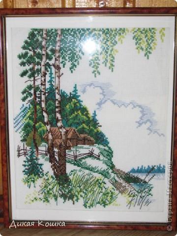 Картину вышивала для хорошей женщины)