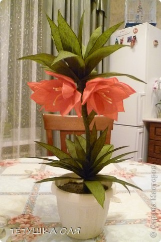Чудо-Цветок (из гофробумаги)