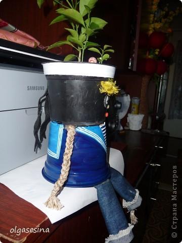Вот и готов мой кавалер для горшечной девушки. Решила что он будет моряком и к тому же чернокожим (других горшочков не нащлось в доме) фото 6