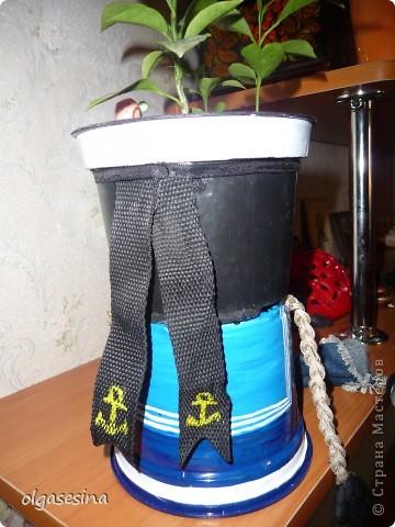 Вот и готов мой кавалер для горшечной девушки. Решила что он будет моряком и к тому же чернокожим (других горшочков не нащлось в доме) фото 5