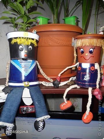 Вот и готов мой кавалер для горшечной девушки. Решила что он будет моряком и к тому же чернокожим (других горшочков не нащлось в доме) фото 7