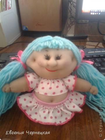 Моя первая куколка из носочка! фото 1