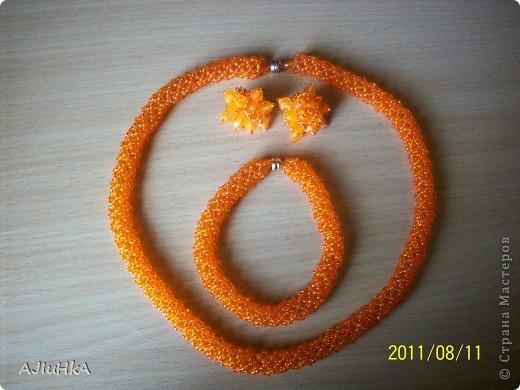 """комплект """"Королева"""" колье-галстук+браслет+кольцо  фото 2"""