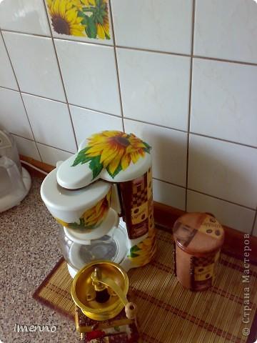 Кофейная троица..))) Кофеварка, кофемолка и баночка для кофе. фото 3