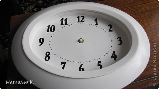 Вот и я доделала  свои часики для прихожей. Все искала подходящую основу. фото 2