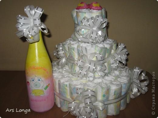 Здравствуйте, жители страны мастеров! :) Вот такой подарок мы с мужем смастерили для наших друзей, у которых родилась доченька! фото 1