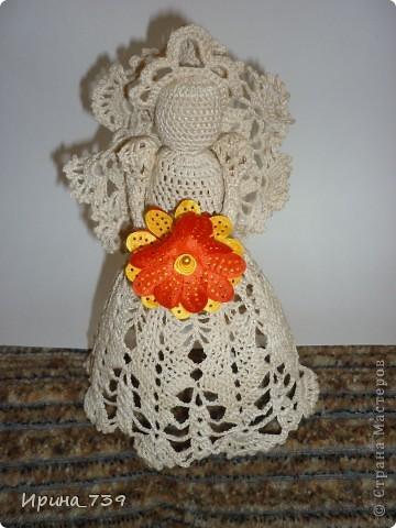 Ангелочек в юбочке ( сувенир или украшение на елку) фото 2